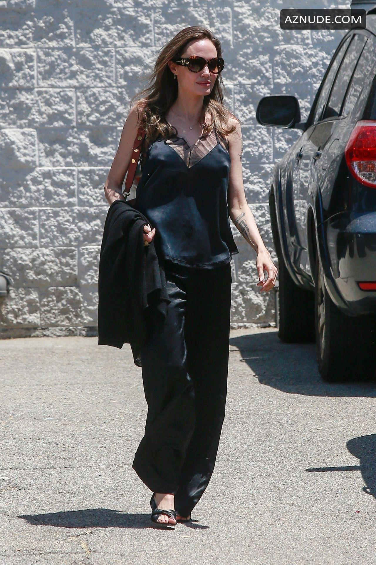 Angelina Jolie Sex angelina jolie sexy emerges from a salon to her ride looking