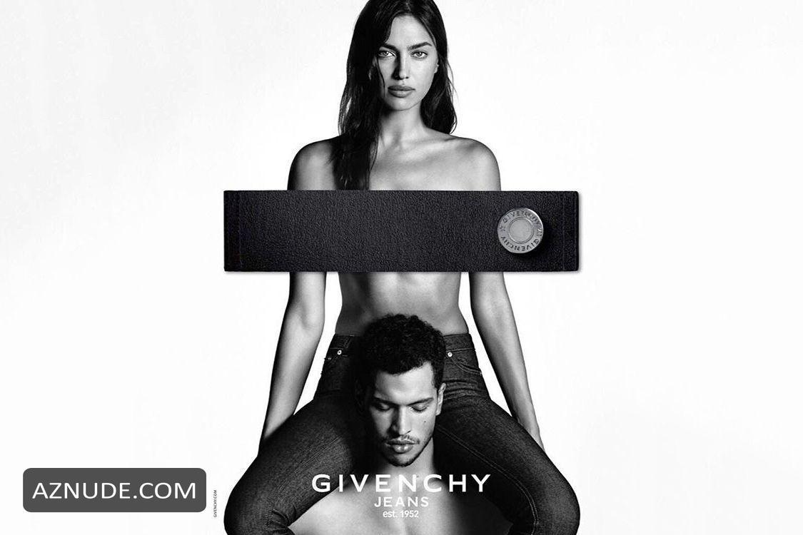 Irina Shayk Topless oglaševalske akcije za Givenchy Jeans - Aznude-9297