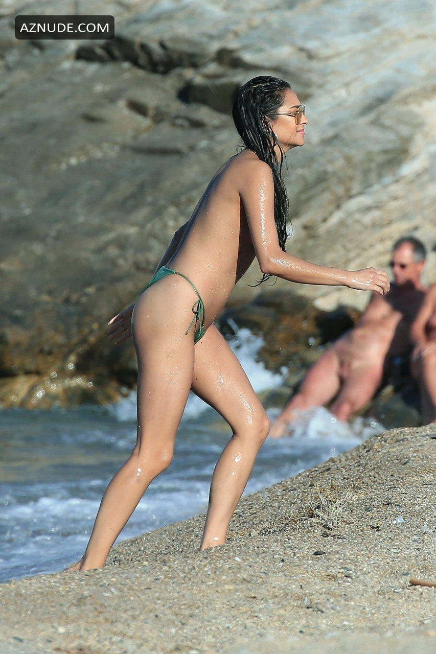 Shay Mitchell Sexy  Topless Photos Spotted On The Beach -3740